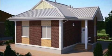 Проект одноэтажного дома ПДО-55