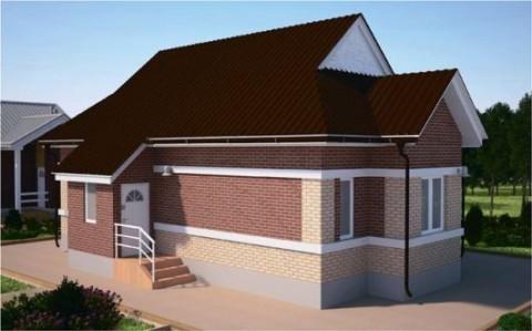 Проект одноэтажного дома 65кв