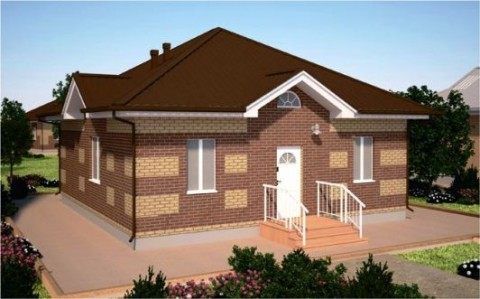 Проект одноэтажного дома ПДО-73