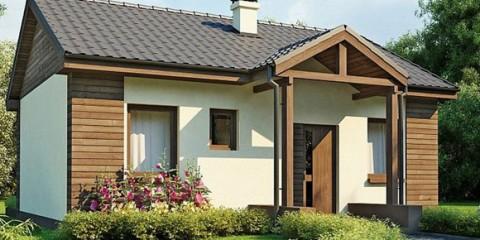 Одноэтажный дом с крыльцом АС-01-А 50,8 кв.м