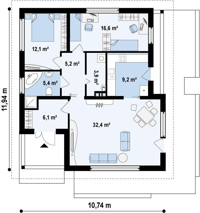 Дома  100 кв