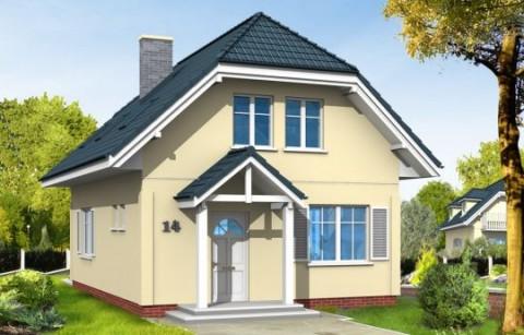 Мансадный жилой дом с балконом 89 кв.м АС-04-А