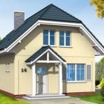 Мансардный жилой дом с гаражом 96,5