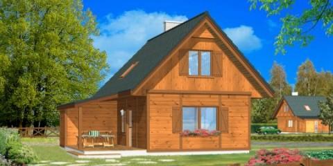 Дачный двухкомнатный дом с верандой