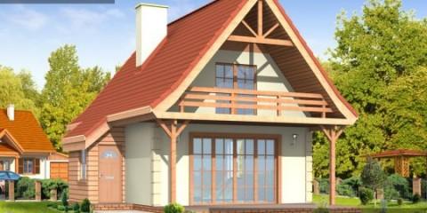 Дачный дом с балконом ac-32-А