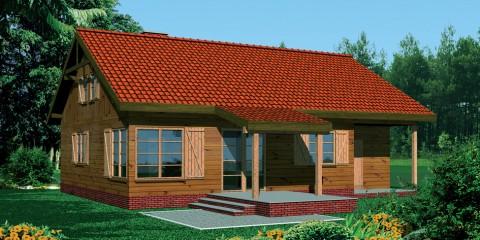 Дачный дом с гаражом ac-34-a
