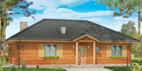 Дачный дом с крытой верандой ac-35-a