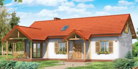 Дачный трехкомнатный дом