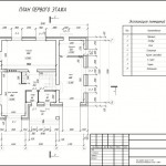 План 1 этажа проект дома