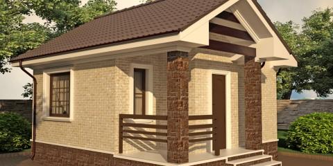 Дачный дом с верандой общей площадью 30 кв.м