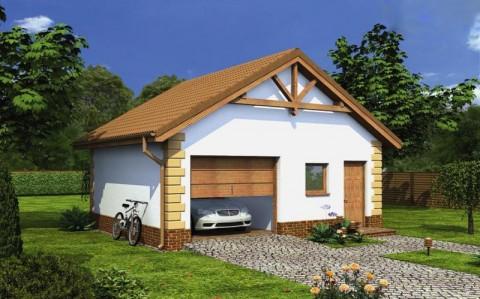 Дачный дом с гаражом общей площадью 40 кв.м