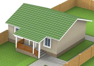 Дачный дом общей площадью 44 кв.м