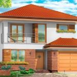 Двухэтажный жилой дом проект