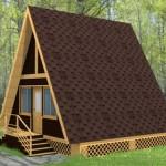 Дачный дом с двучкатной крышей
