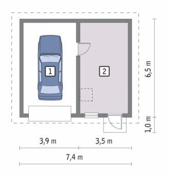 Дачный дом с гаражом план