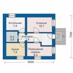 Дачный дом с вальмовой крышей план