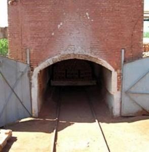 Печь где производится клинкер