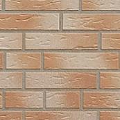 Плитка клинкерная фасадная, 240x71x10мм, Дымка, накат Березка