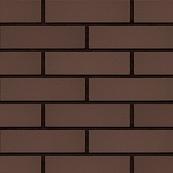 Плитка клинкерная фасадная, 240x37x10мм, Темный шоколад накат СКАЛА
