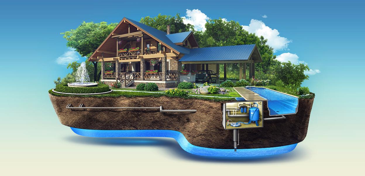 Водоснабжение частных домов и дачных участков