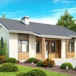 Одноэтажный дом с выходом во двор АС-02-А, 79,7 кв.м