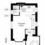 Дом с эркером и балконом план второго этажа