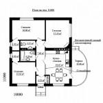 Дом с раздельным санузлом план первого этажа