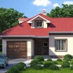Одноэтажный жилой дом с камином и гаражом АС-10-А 120 кв.м