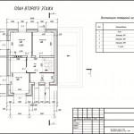 План 2 этажа индивидуальный проект дома