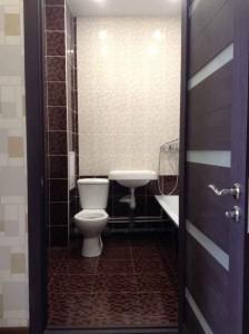 Ремонт туалета в однокомнатной квартире на Гагарина