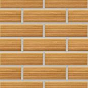 Плитка клинкерная фасадная, 240x47x10мм, Песочный, накат Бамбук горизонтальный