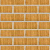 Плитка клинкерная фасадная, 240x47x10мм, Песочный, накат Бамбук вертикальный